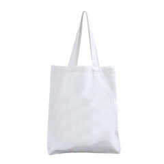 HWB33 - WHITE CANVAS TOTE BAG