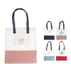 HWB51 - CANVAS AND LEATHER TOTE BAG