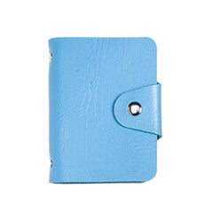 HWB19 - BOOK-STYLE PU LEATHER NAME CARD ORGANISER