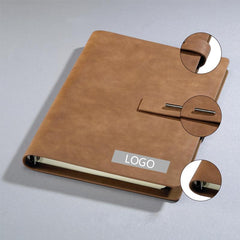 HWOS178 - PU LEATHER COVER NOTEBOOK WITH METAL BUCKLE