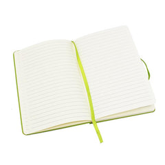 HWOS157 - A5 NOTEBOOK WITH ELASTIC BAND AND RIBBON BOOKMARK