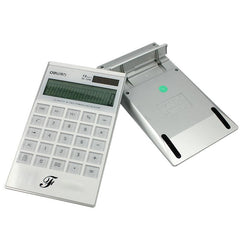 HWOS180 - WHITE SOLAR POWERED CALCULATOR