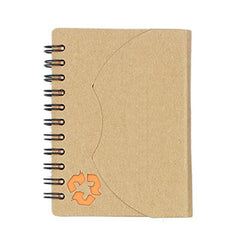 HWOS22 - ECO-FRIENDLY NOTEBOOK WITH CURVED FLAP CLOSURE