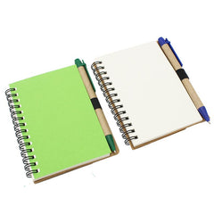 HWOS35 - ECO-FRIENDLY NOTEBOOK WITH SCALLOP EDGE