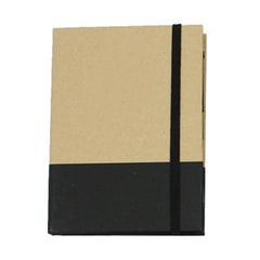 HWOS150 - MULTIFUNCTIONAL ECO-FRIENDLY NOTEPAD SET WITH ELASTIC BAND CLOSURE