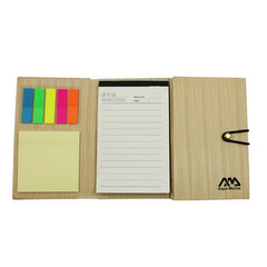 HWOS138 - NOTEPAD SET WITH BUTTON LOOP CLOSURE