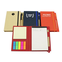 HWOS148 - NOTEBOOK SET WITH ELASTIC BAND CLOSURE AND PET STICKY FLAG PADS