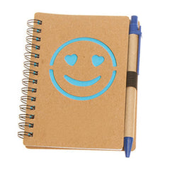 HWOS41 - ECO-FRIENDLY NOTEBOOK WITH SMILEY FACE DESIGN