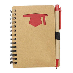 HWOS47 - NOTEBOOK WITH MORTARBOARD DESIGN ON COVER
