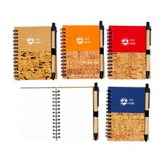 HWOS58 - SPIRAL-BOUND NOTEBOOK WITH WOOD GRAIN DESIGN