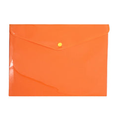 HWOS04 - COLOURED ENVELOPE-STYLE A4 DOCUMENT HOLDER WITH SNAP FASTENER