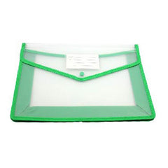 HWOS75 - A4 CLEAR DOCUMENT POUCH WITH COLOURED EDGE