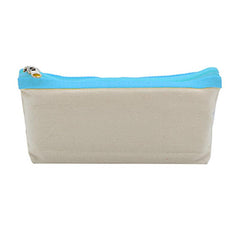 HWOS52 - CANVAS PENCIL CASE WITH COLOURED ZIP