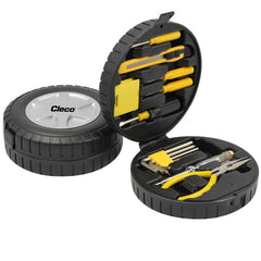 HWH83 - 15-PIECE CAR TOOL KIT IN TYRE-SHAPED CASE