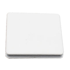 HWCP20 - SQUARE FLIP POCKET MIRROR WITH WHITE ABS COVER