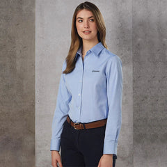HWA90 - Women's CVC Oxford Long Sleeve Shirt