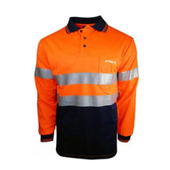 HWA58 - Hi Vis Polo Long Sleeve With Reflective Tape