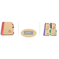 HWOS68 - NOTEBOOK SET WITH RECYCLING SYMBOL CUTOUT ON COVER