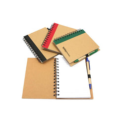 HWOS67 - ECO-FRIENDLY NOTEBOOK WITH COLOURED LEFT MARGIN