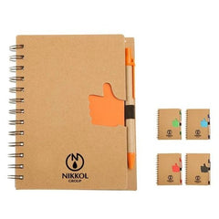 HWOS82 - ECO-FRIENDLY NOTEBOOK WITH THUMBS UP DESIGN