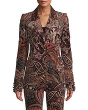Load image into Gallery viewer, PAISLEY VELVETEEN BLAZER
