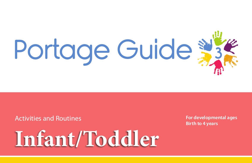 portage guide 3 infanttoddler activities routines resource book english