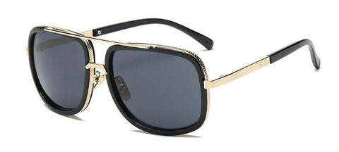 Men's High Fashion Square Frame Retro Sun Glasses
