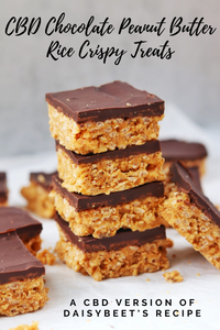 CBD Chocolate Peanut Butter Rice Crispy Treats