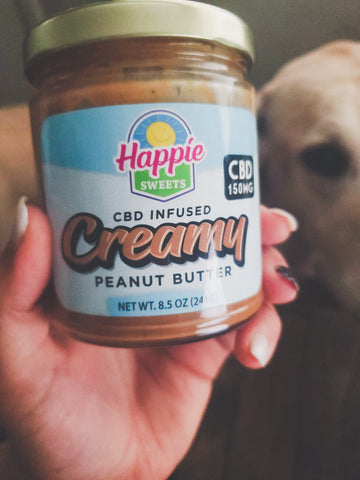 happie sweets cbd infused creamy peanut butter