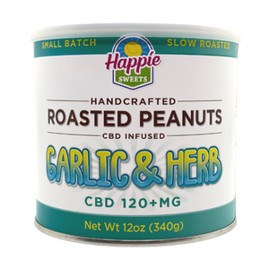 CBD Infused Roasted Peanuts - Garlic & Herb