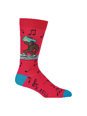 Bigfoot Boombox Socks Adult