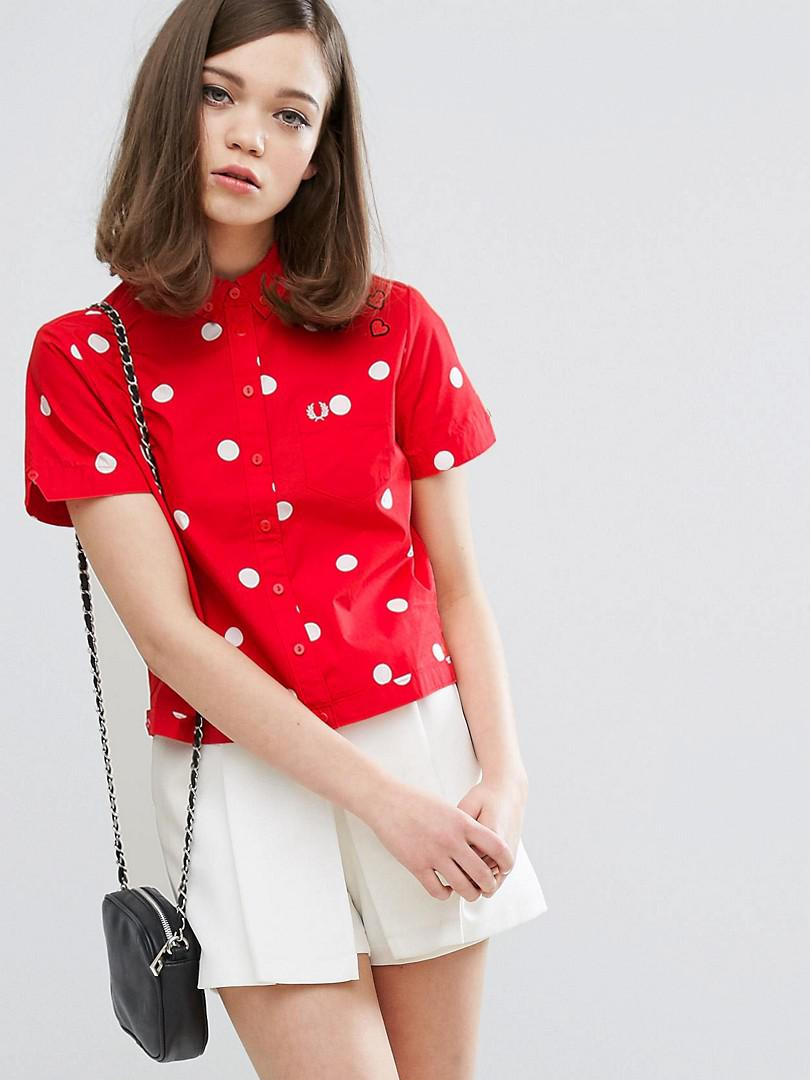 Amy Winehouse - Fred Perry Polka Dot Red Polo