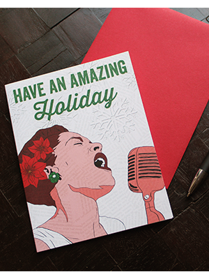 Billie Holiday Holiday Card