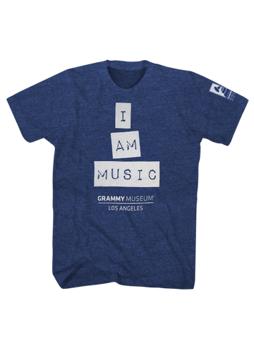 GRAMMY Museum I Am Music Tee - Blue