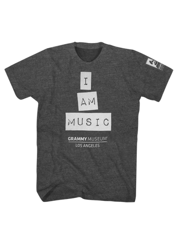 GRAMMY Museum I Am Music T-Shirt - Charcoal