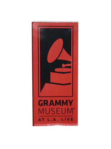 GRAMMY Museum Logo Acrylic Magnet - Pink