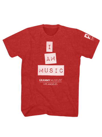 GRAMMY Museum I Am Music Tee - Red