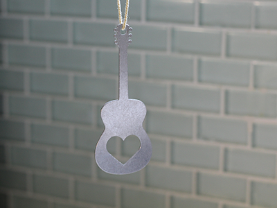 Metal Acoustic Guitar Ornament