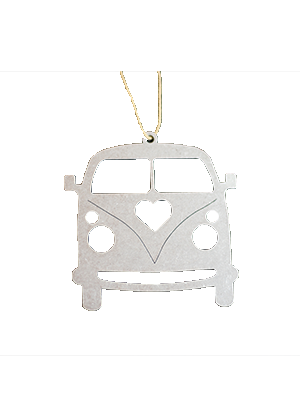 Metal Love Bus Ornament