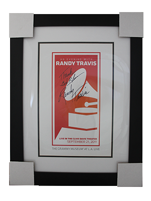GRAMMY® Winner Randy Travis Signed & Framed GRAMMY Museum Poster