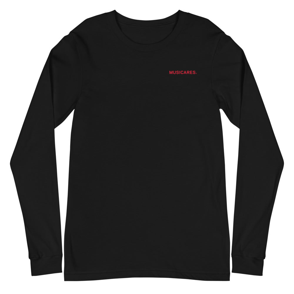Long Sleeve Unisex T-Shirt - Giving Music Quote On Back
