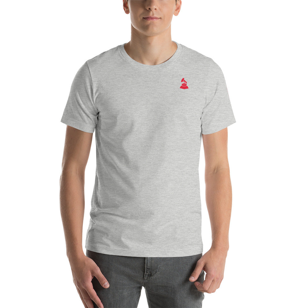 Short Sleeve Unisex T-Shirt - Gramophone and MusiCares Sleeve