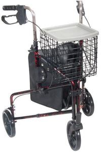 "Drive Medical Deluxe 3 Wheel Aluminum Rollator, 7.5"" Casters - SpaSupply"