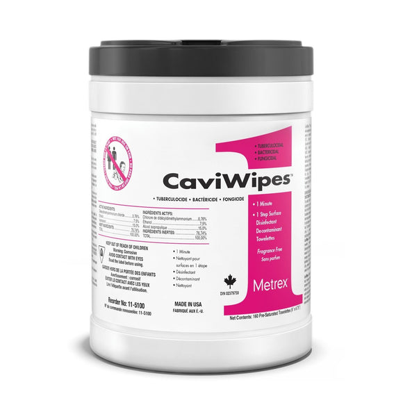 CAVIWIPES1 SURFACE DISINFECTANT TOWELETTE 160 WIPES PER CANISTER (4 PACK)
