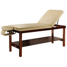 A Wooden Stationary Massage Table