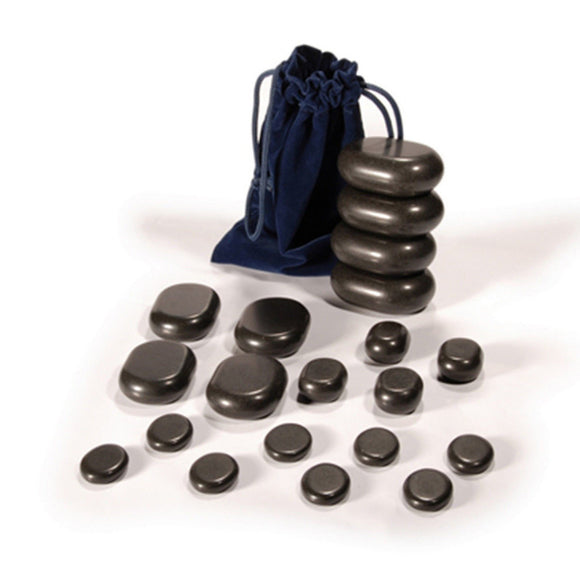 Hot Stone Set 20 Basalt Massage Stones, Starter Set - SpaSupply