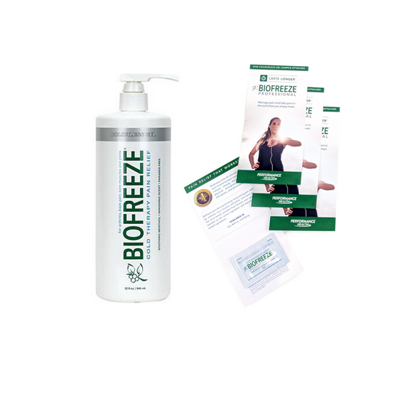 32 OZ PROFESSIONAL BIOFREEZE PUMP BOTTLE W/ 100/PK SAMPLES