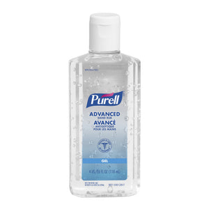 Purell Advanced Gel Hand Sanitizer 4 oz 70% Alcohol Content 118 mL (6 Pack)