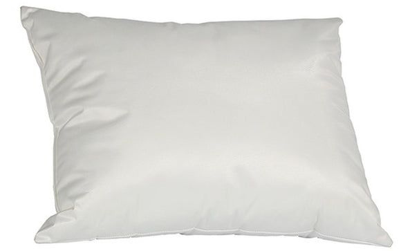 White Vinyl Pillow Standard: 24