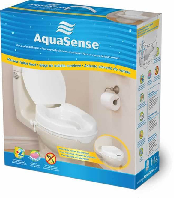 AquaSense Raised Toilet Seats with Lid - SpaSupply